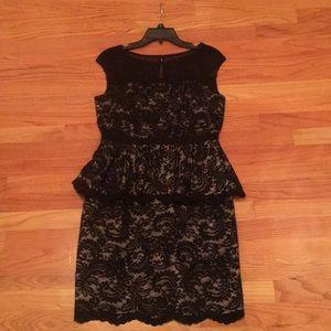 Black evening cocktail dress